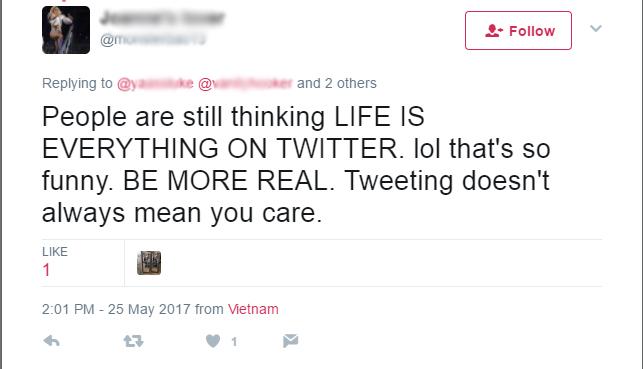Cosa significa lol - esempio da Twitter